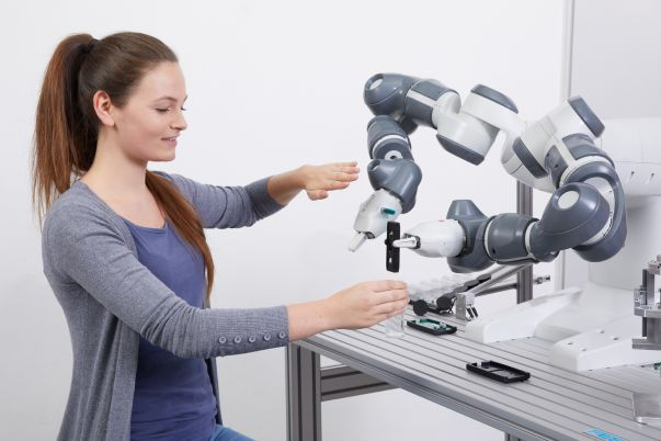 Human robot collaboration with ABB Yumi
